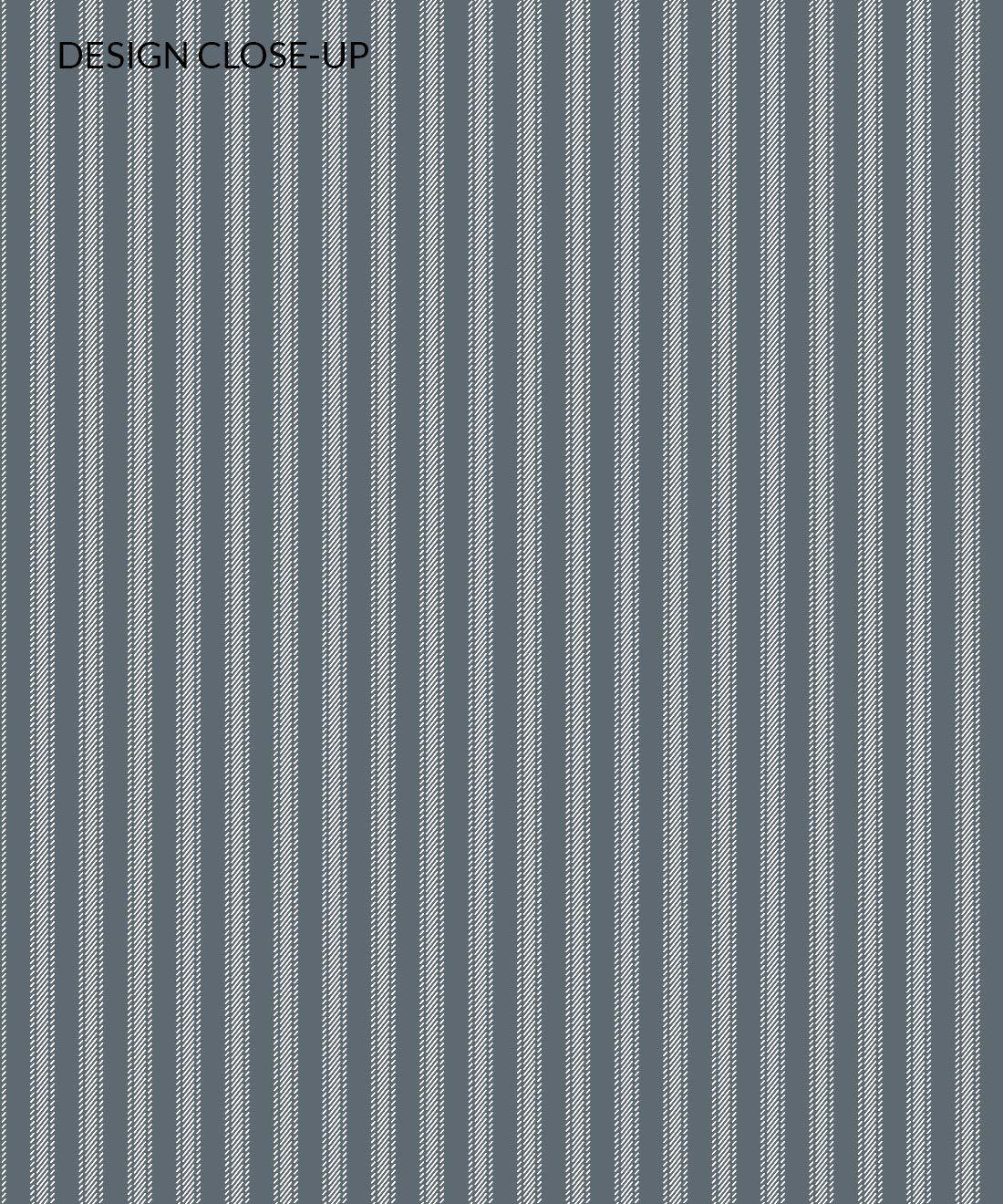 Ticking Stripe Wallpaper • Grey Wallpaper • Swatch Close-up
