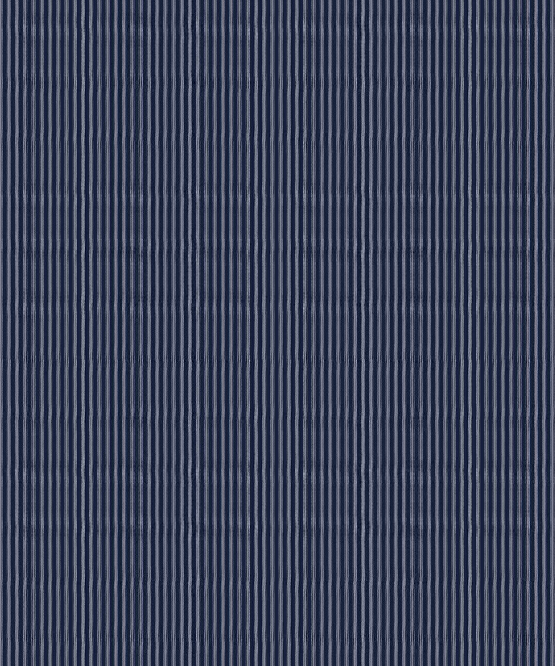 Ticking Stripe Wallpaper • Maastrict Blue Wallpaper • Swatch