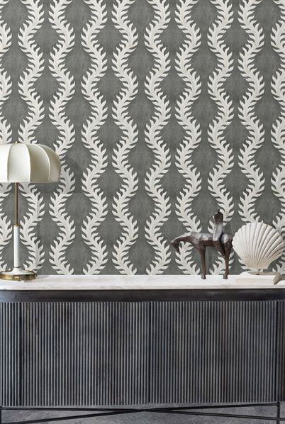 Fern Wallpaper by Bethany Linz in Charcoal