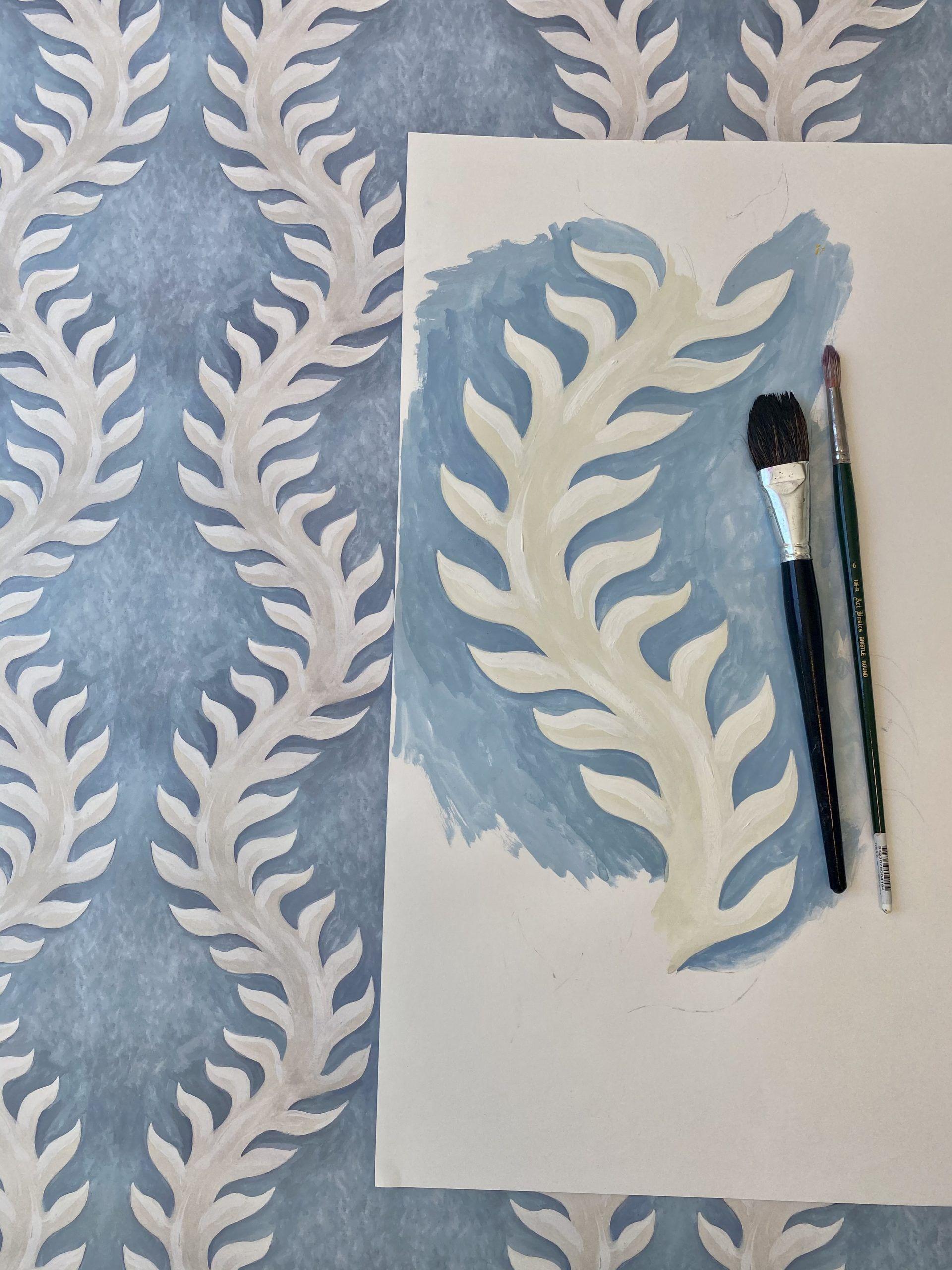 Fern Wallpaper Sketch by Bethany Linz