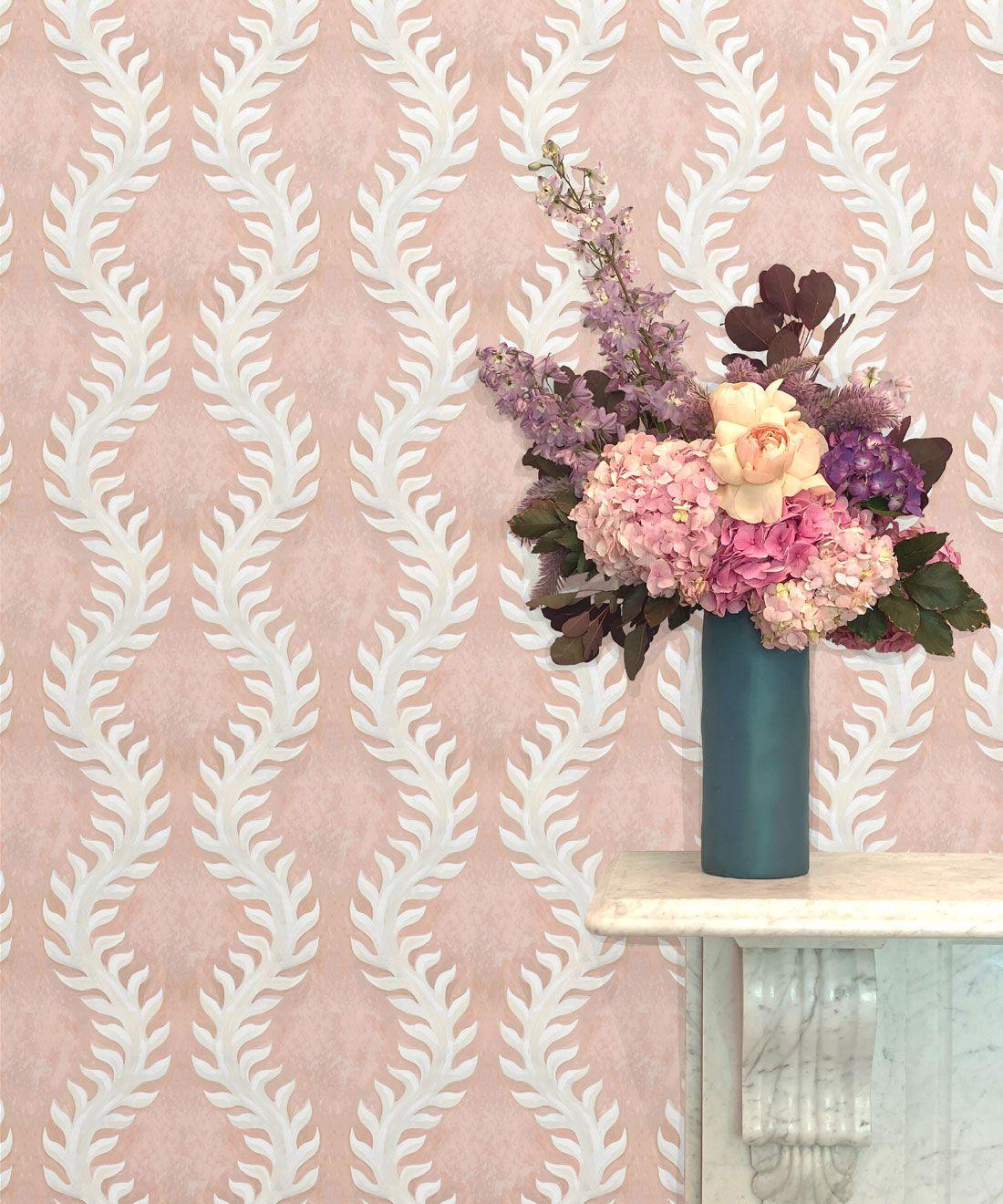 Fern Wallpaper • Pink Wallpaper •Insitu