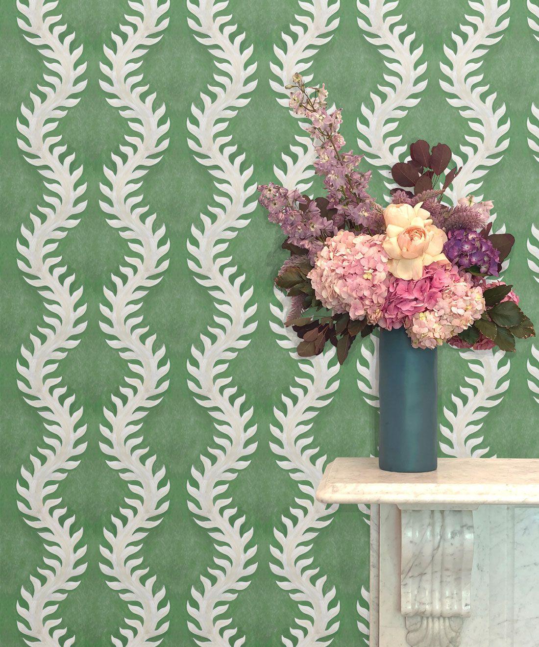 Fern Wallpaper • Green Wallpaper •Insitu