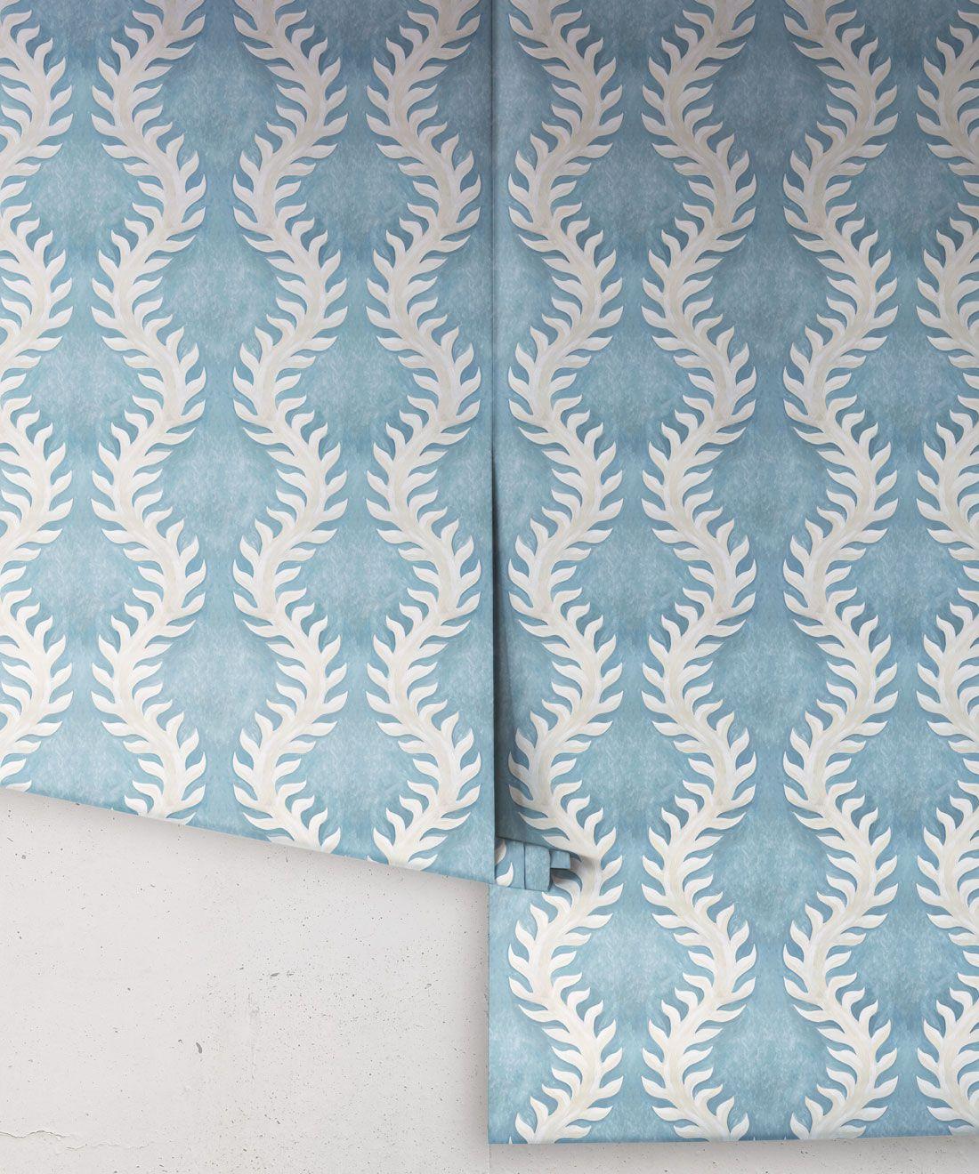Fern Wallpaper • Blue Wallpaper •Rolls