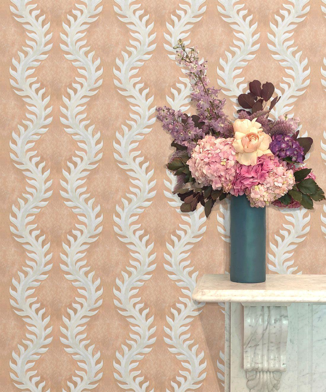 Fern Wallpaper • Salmon Wallpaper •Insitu