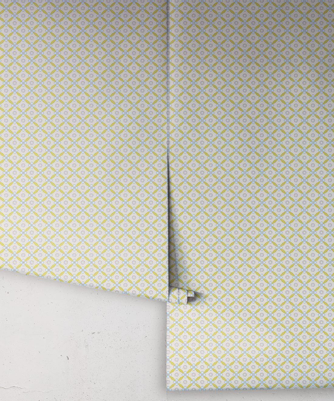 Petite Wallpaper • Chartreuse • Rolls