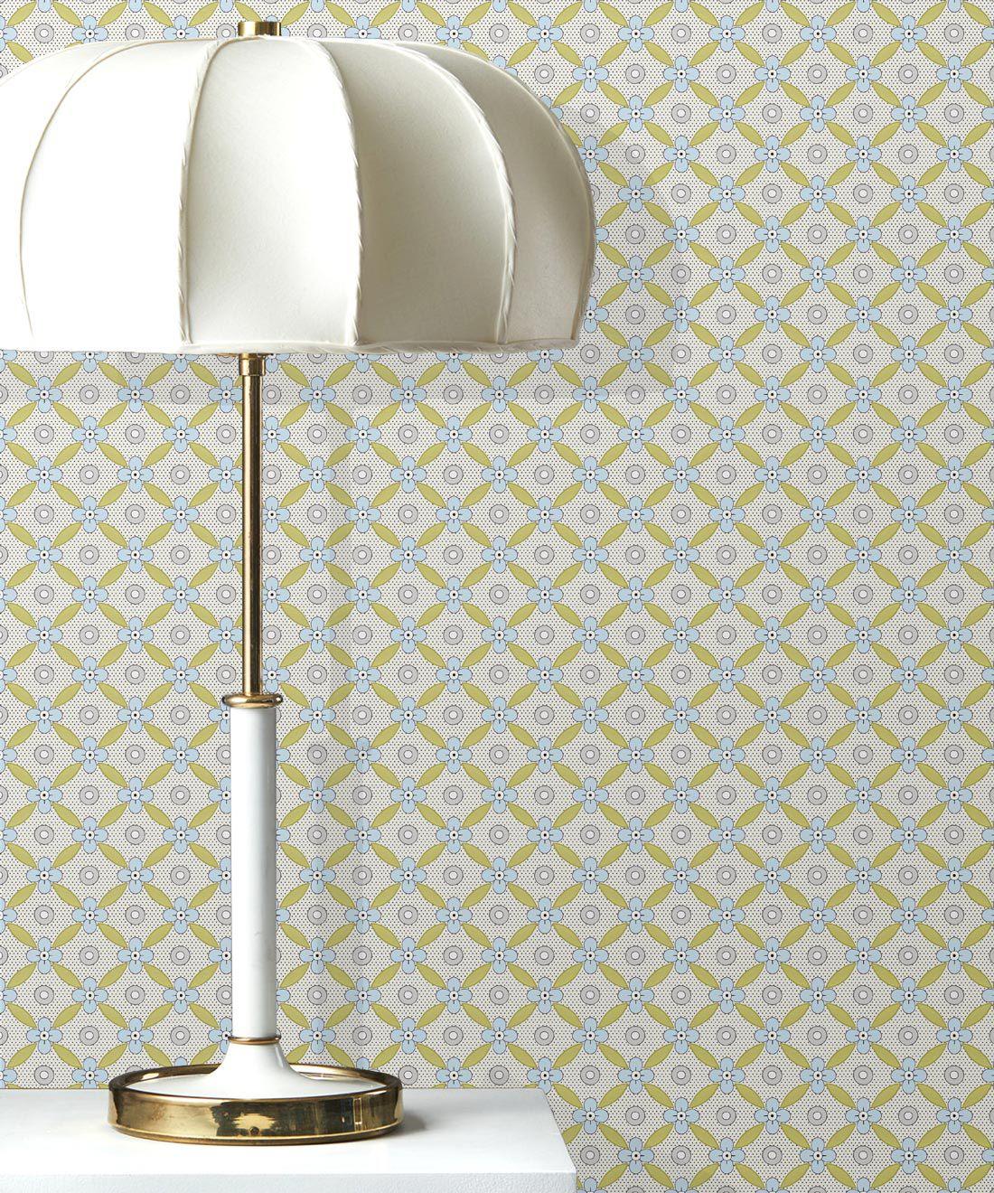 Petite Wallpaper • Chartreuse • Insitu
