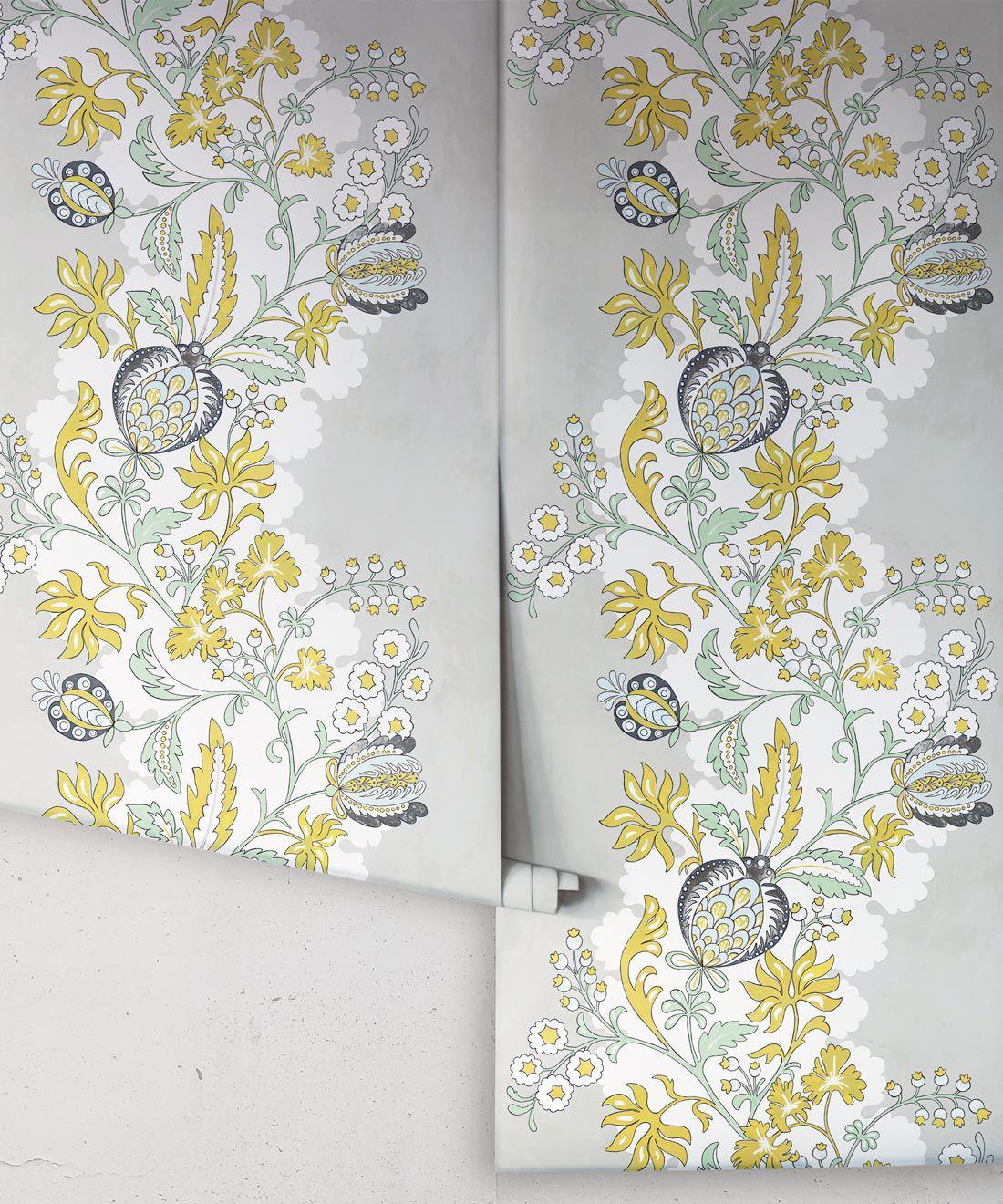 Pomegranate Wallpaper • Beige • Rolls