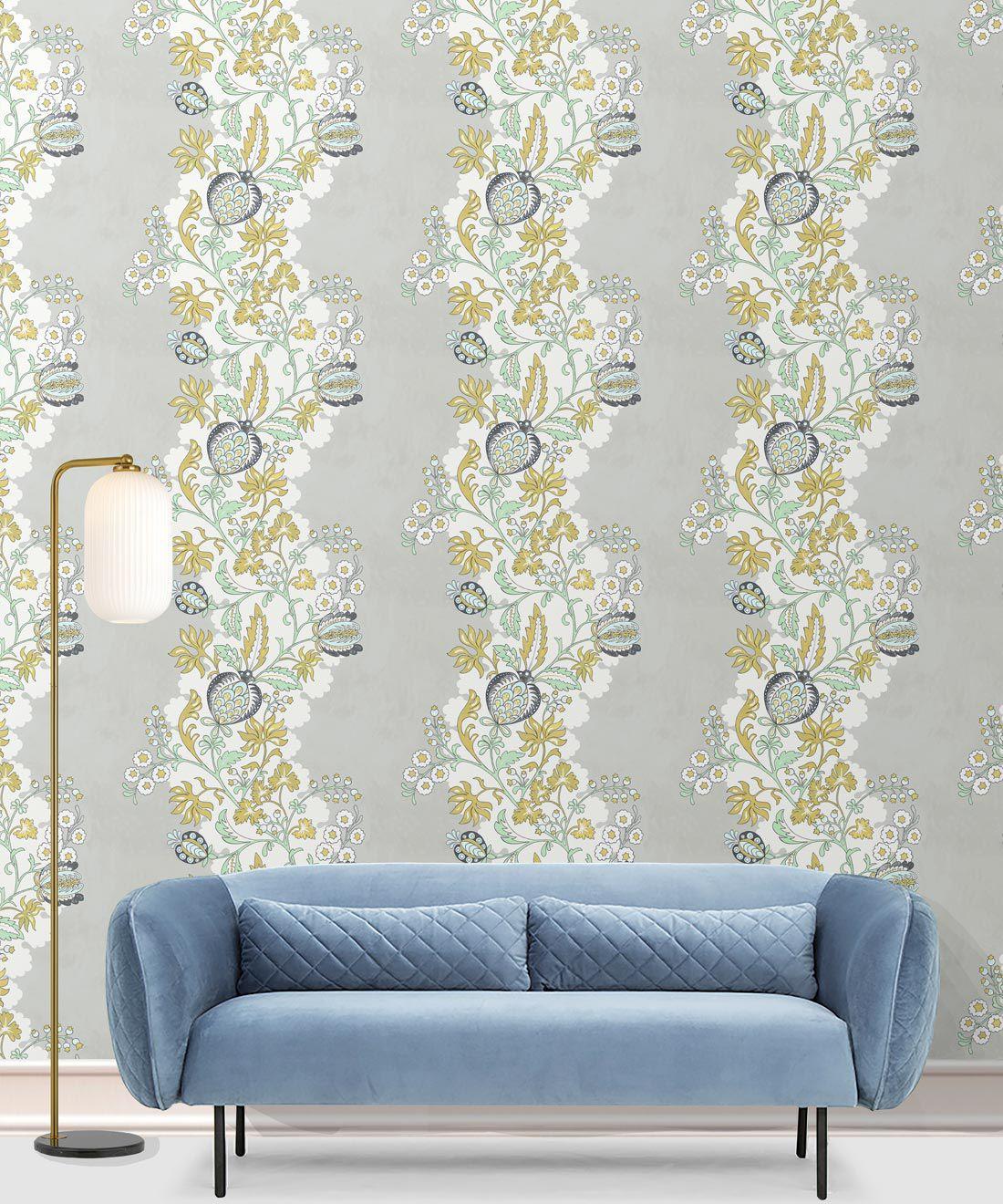 Pomegranate Wallpaper • Beige • Insitu