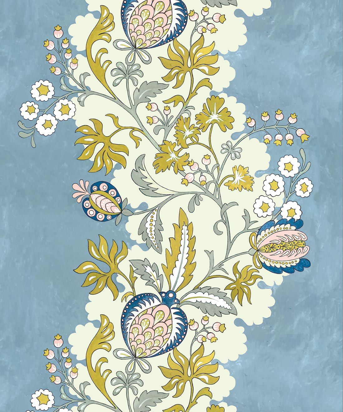 Pomegranate Wallpaper • French Blue • Swatch
