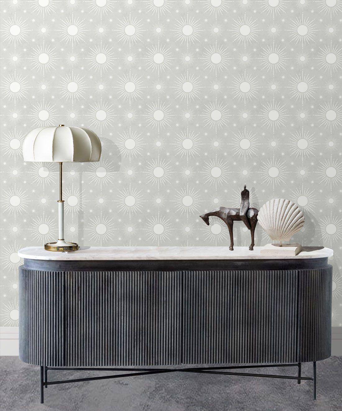 Sun Light Star Bright Wallpaper • Beige • Insitu