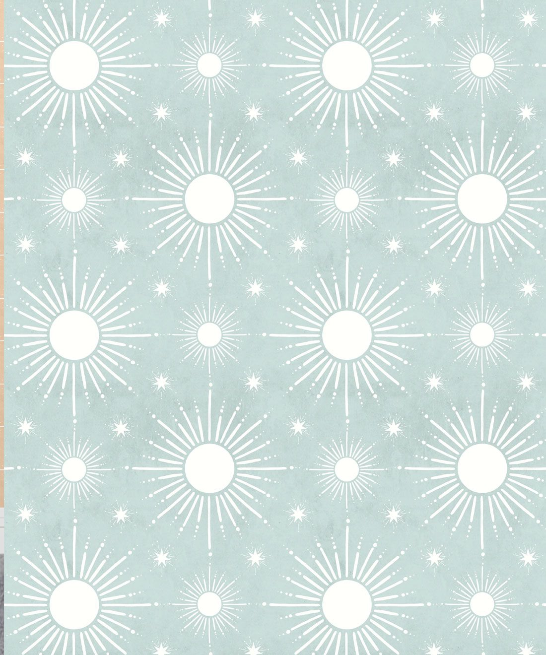 Sun Light Star Bright Wallpaper • Sea Spray • Swatch