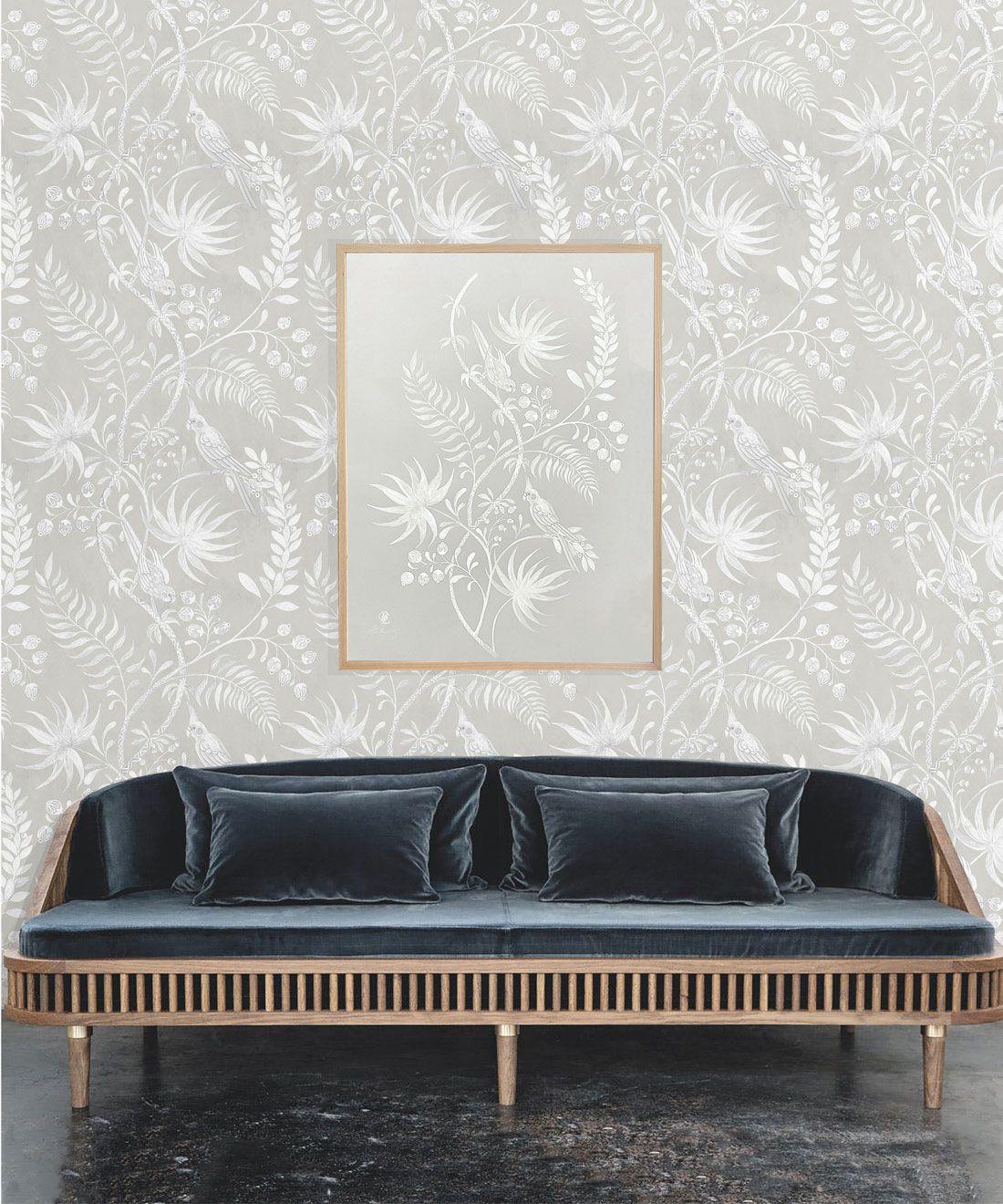 Tropicana Wallpaper • Beige • Insitu