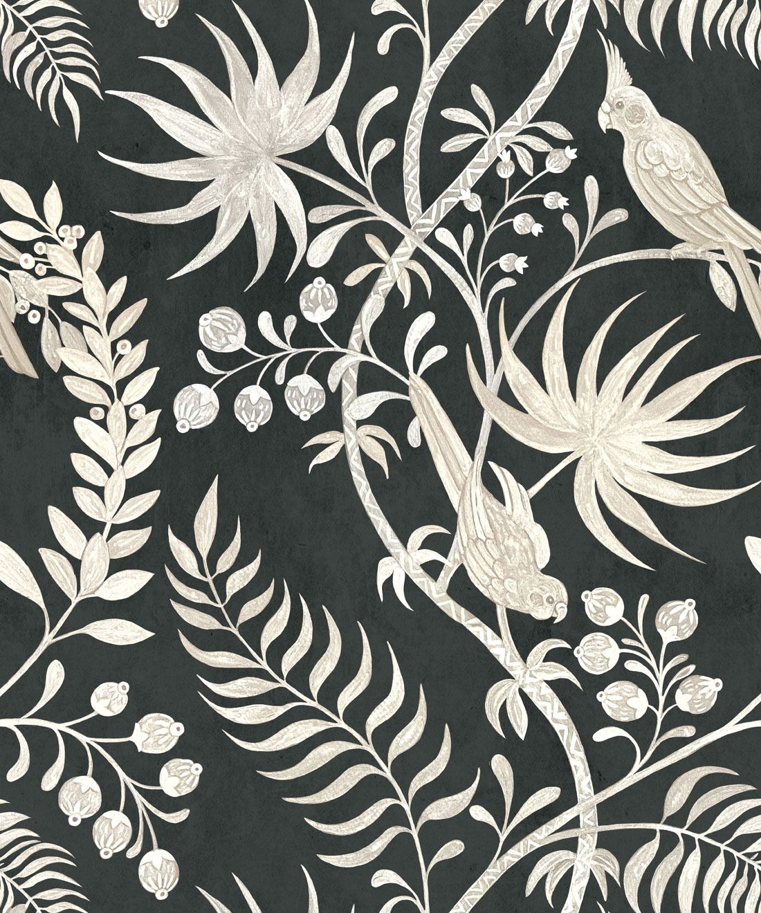 Tropicana Wallpaper • Charcoal • Swatch