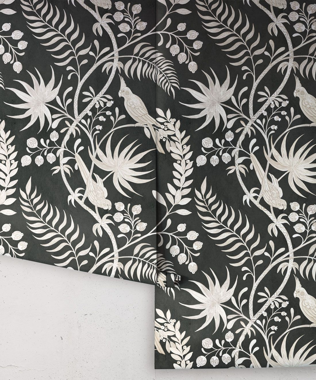 Tropicana Wallpaper • Charcoal • Rolls