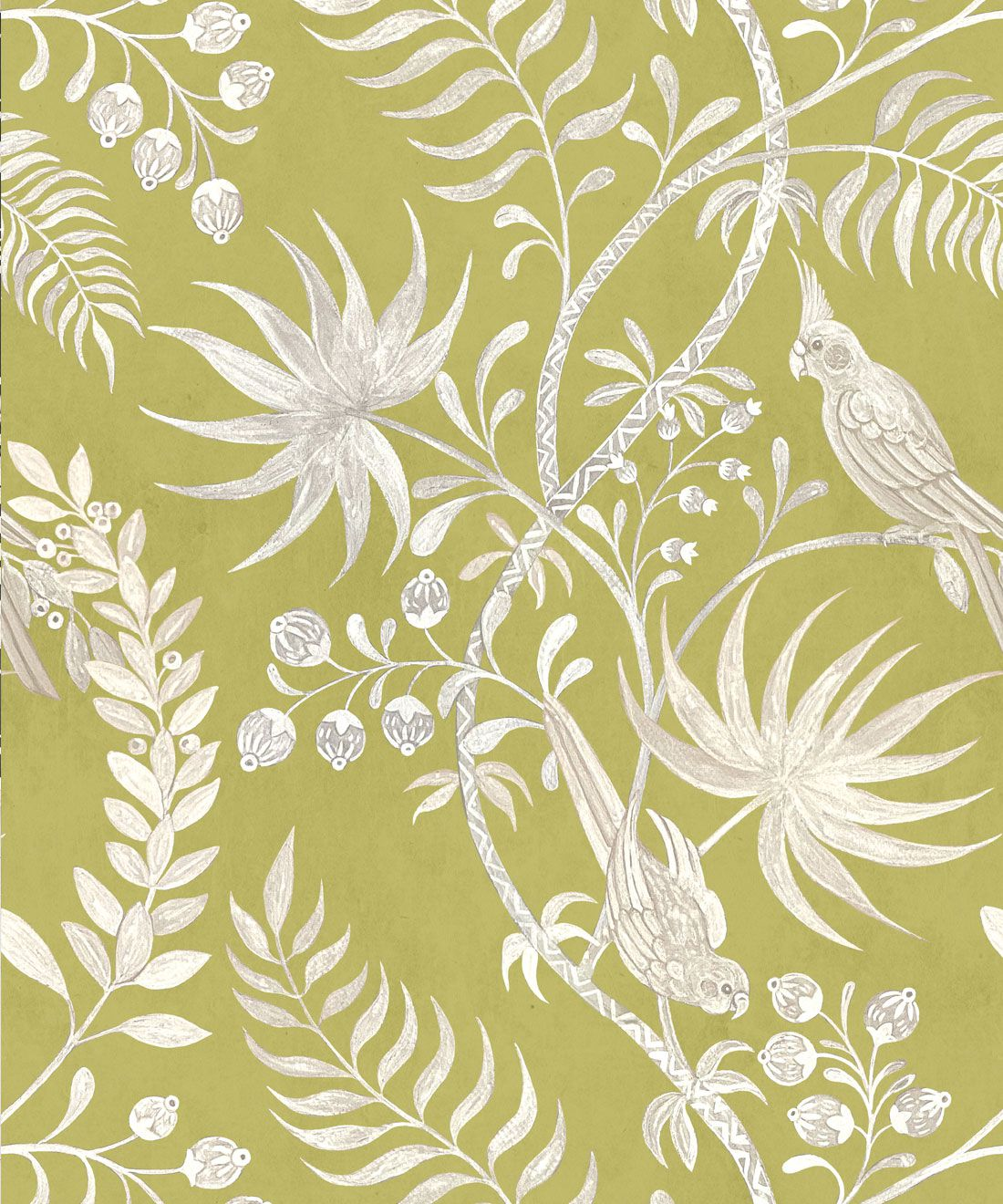 Tropicana Wallpaper • Chartreuse • Swatch