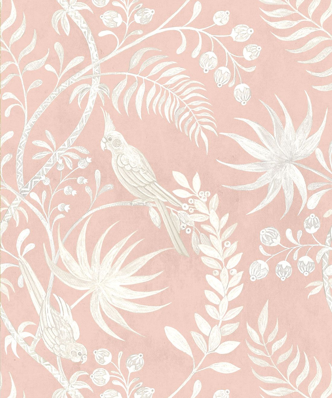 Tropicana Wallpaper • Dusty Pink • Swatch