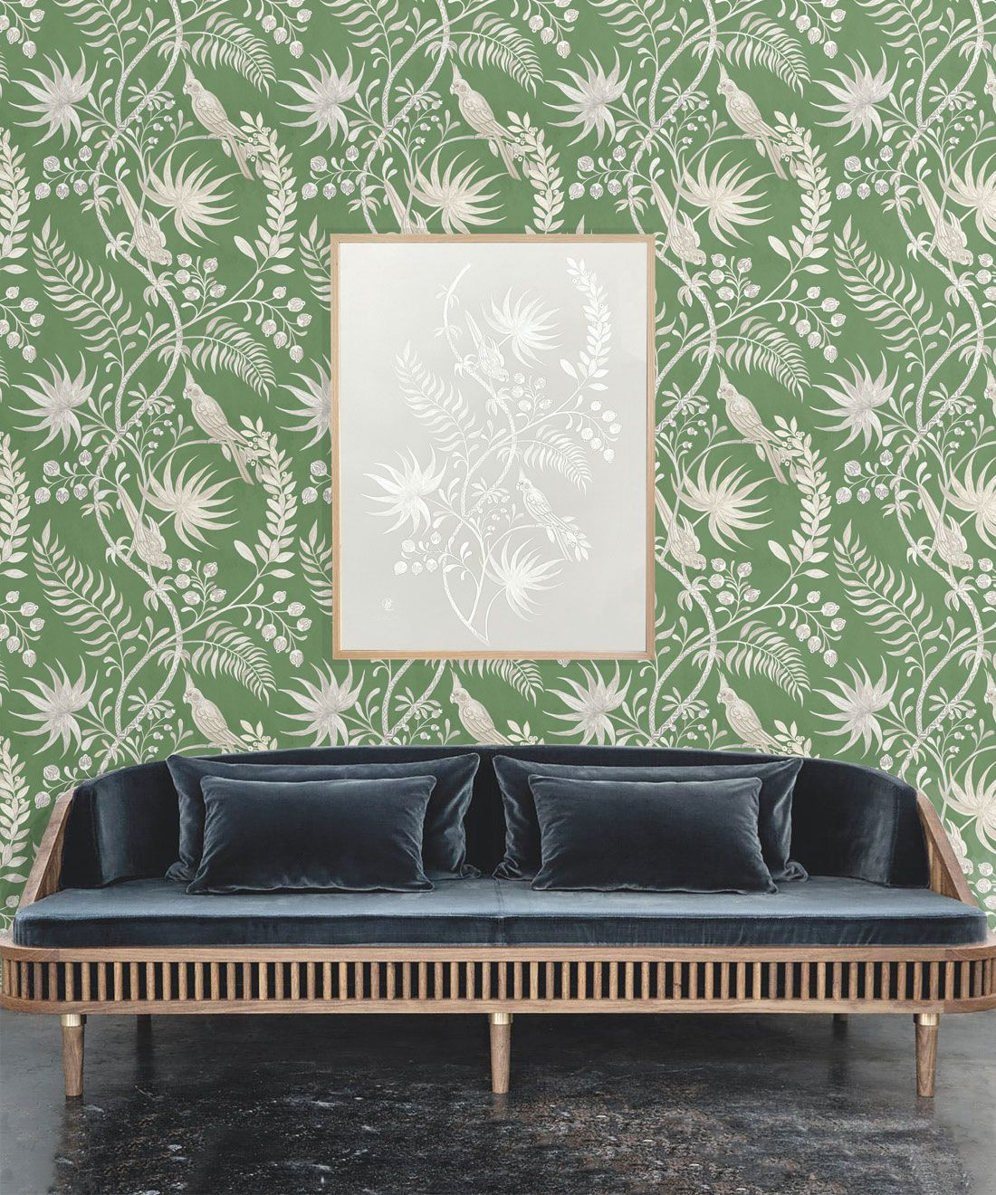 Tropicana Wallpaper • Fern Green • Insitu