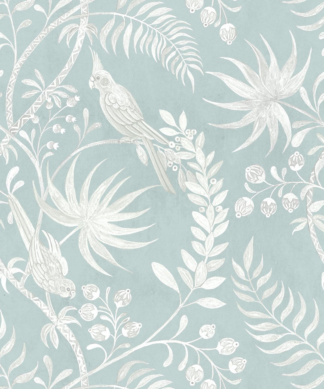 Tropicana Wallpaper • Sea Spray • Swatch