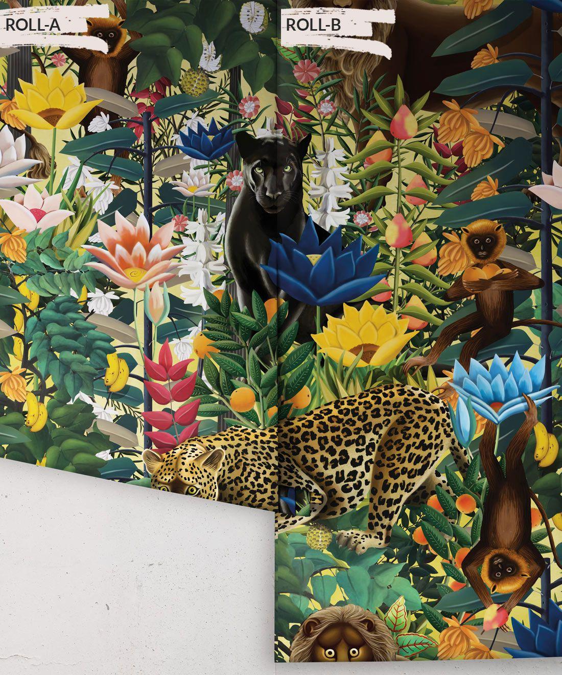 The Jungle Wallpaper • Animal Wallpaper • Botanical Wallpaper • Hazelwood Wallpaper • Rolls