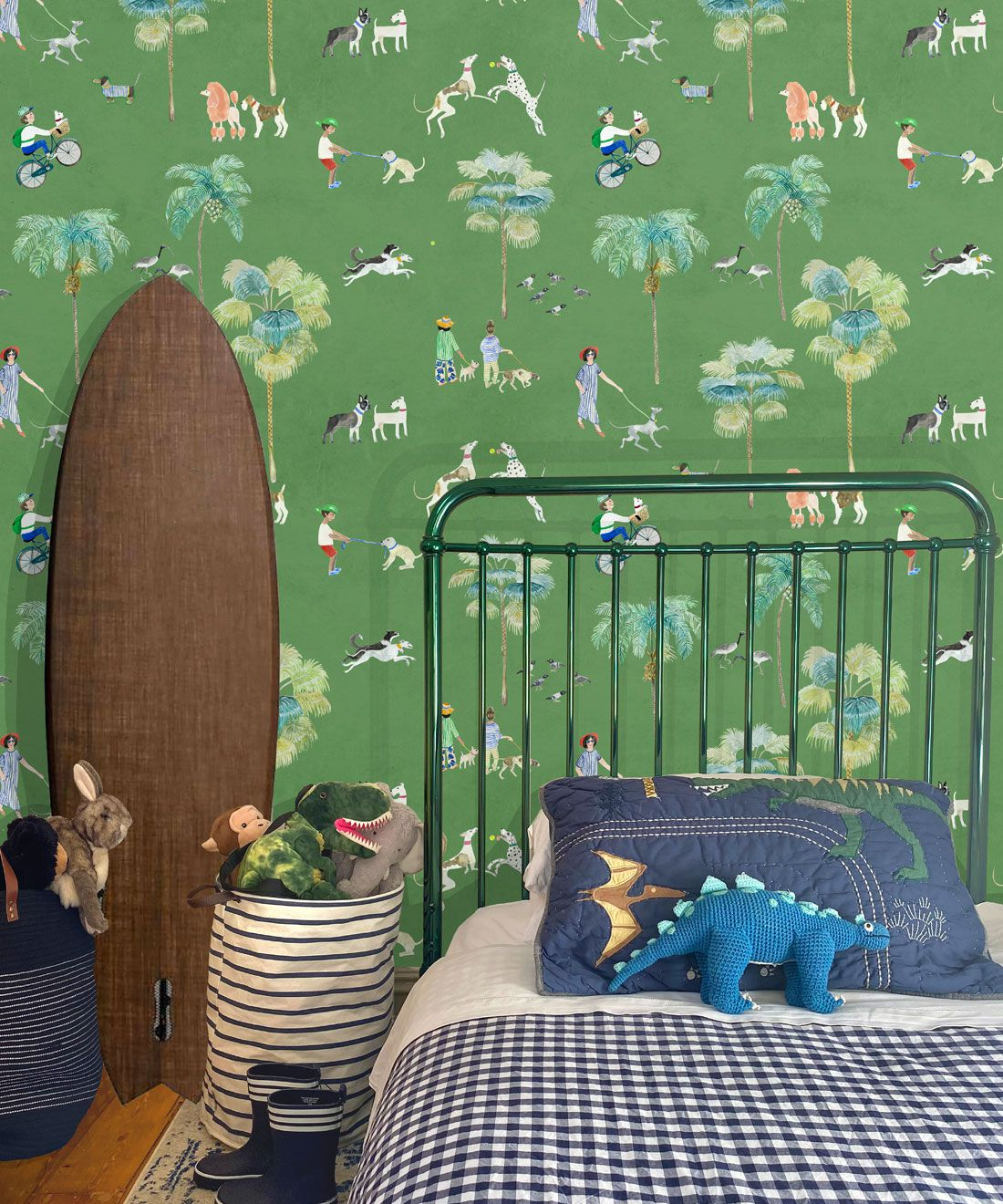 At The Dog Park Wallpaper • Kids Wallpaper • Green • Insitu