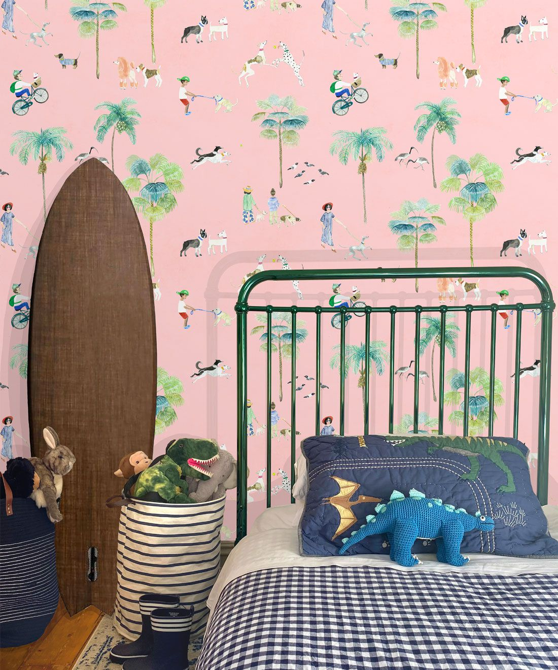 At The Dog Park Wallpaper • Kids Wallpaper • Pink • Insitu