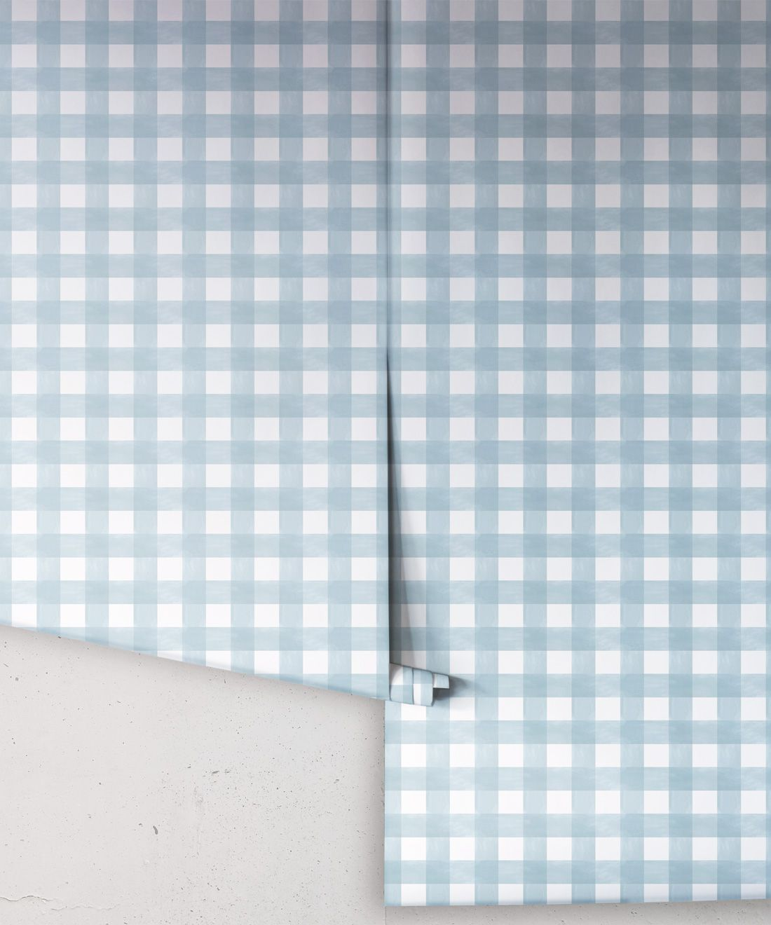 Check Wallpaper • Dusty Blue •Rolls