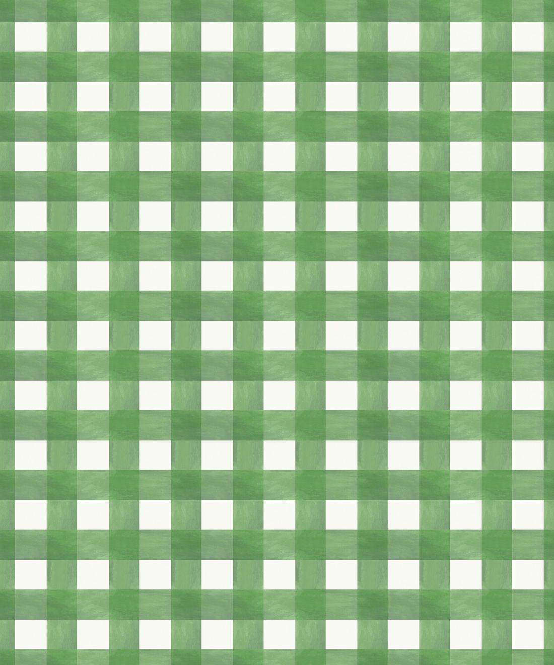 Check Wallpaper • Green •Swatch