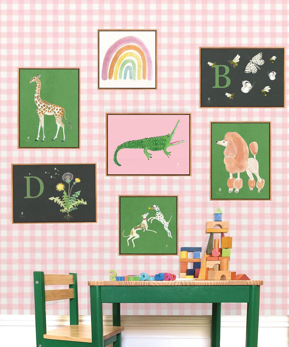 Check Wallpaper • Pink •Insitu