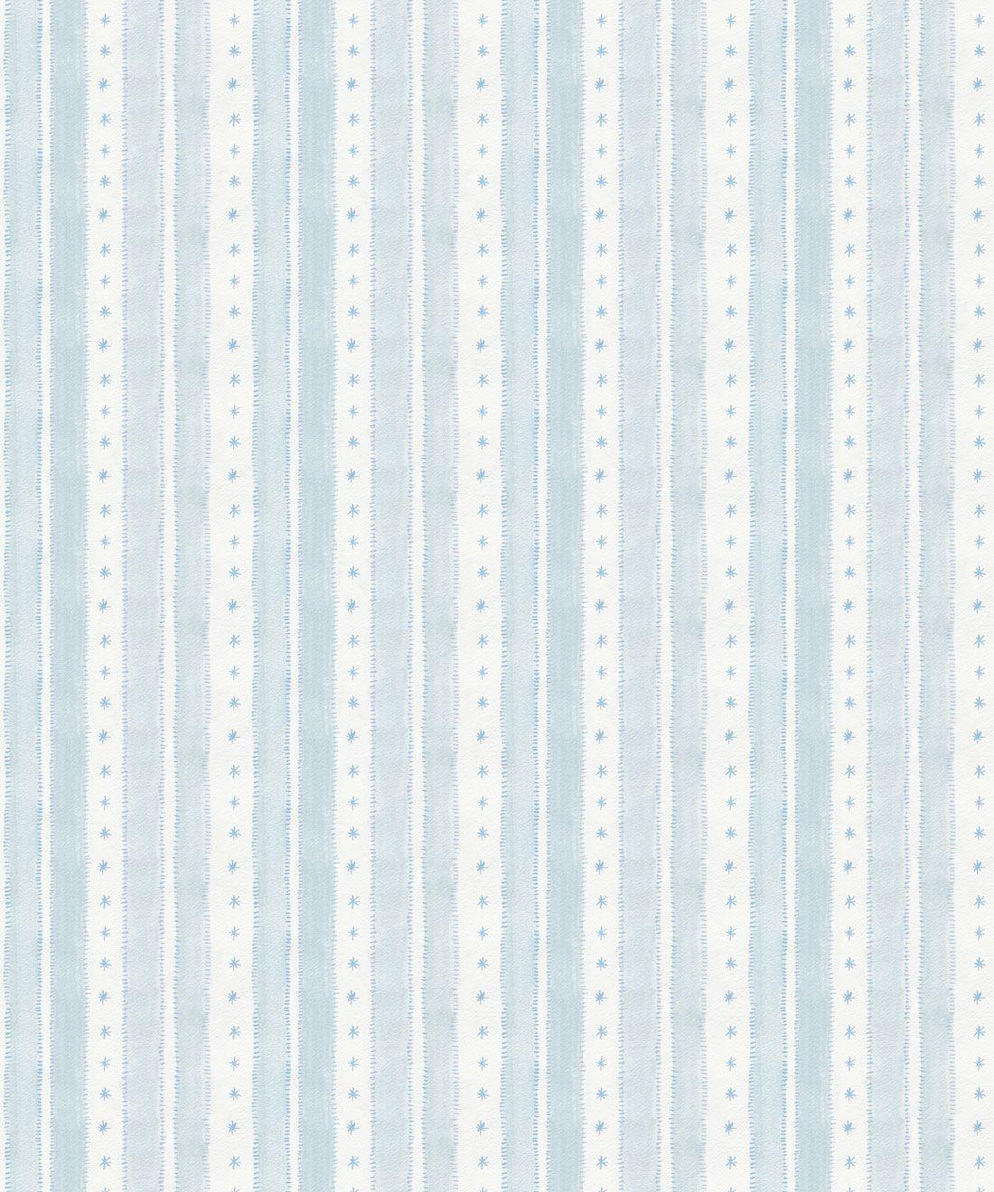 Star Stripe Wallpaper • Dusty Blue • Swatch