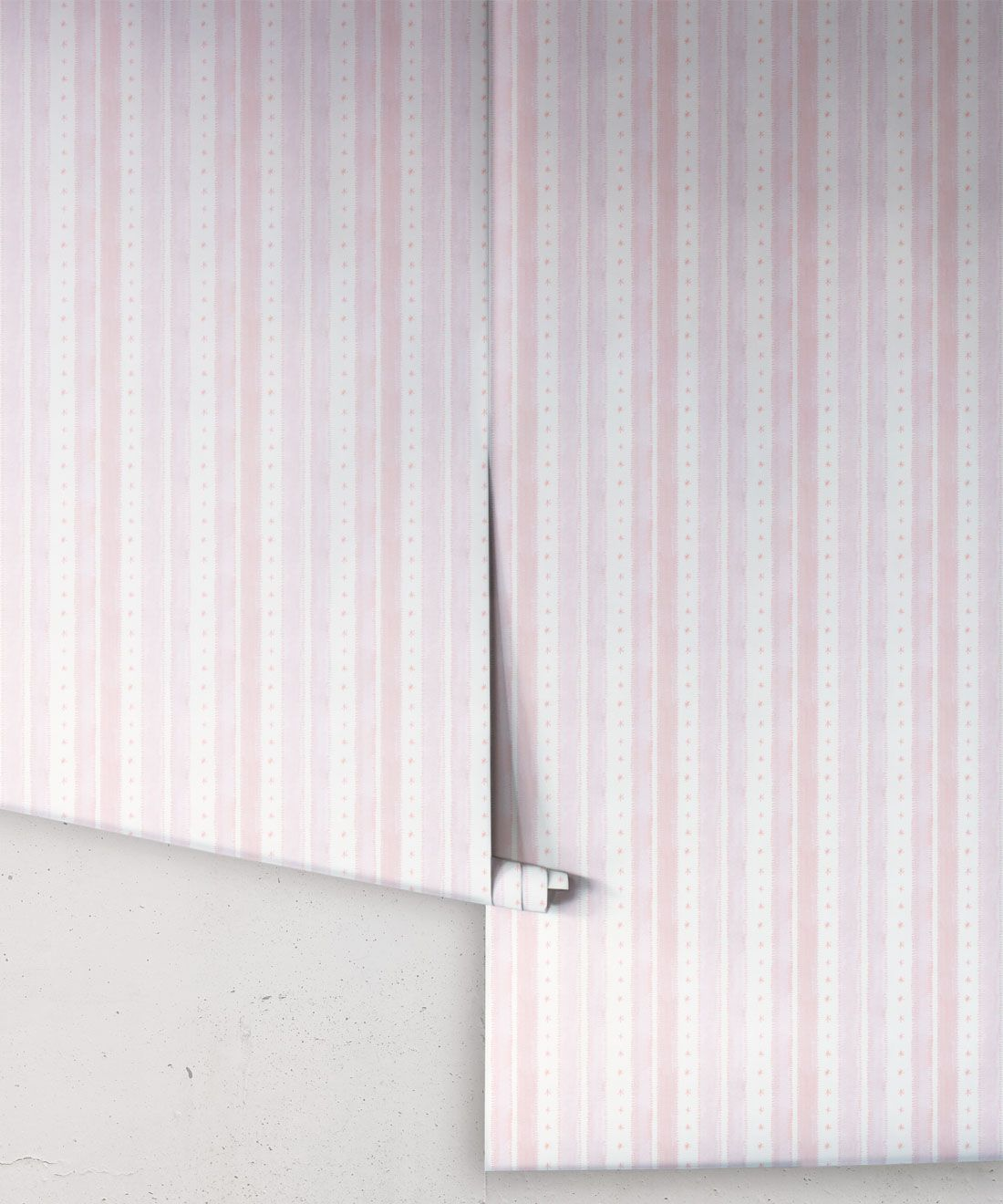 Star Stripe Wallpaper • Pink • Rolls