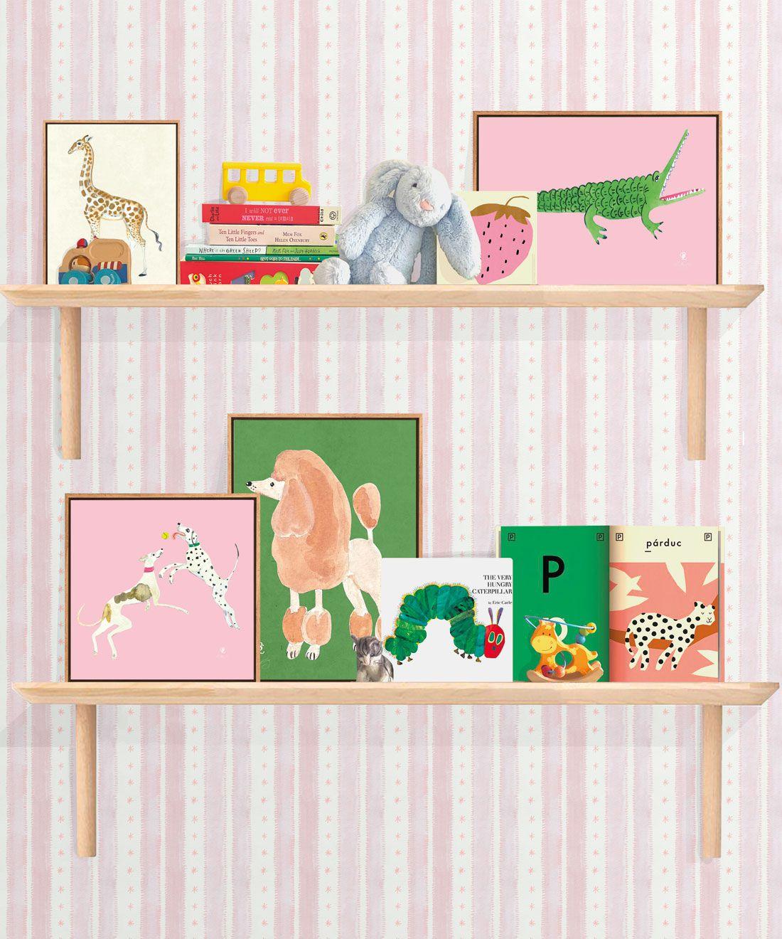 Star Stripe Wallpaper • Pink • Insitu