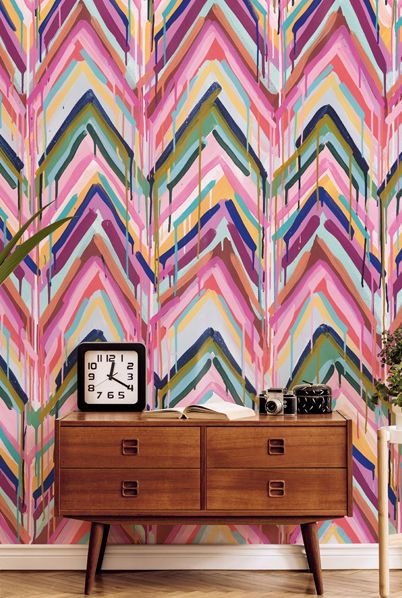 Tiff Manuell Wallpaper • Crossroads • Colorful Chevron Wallpaper • Blog