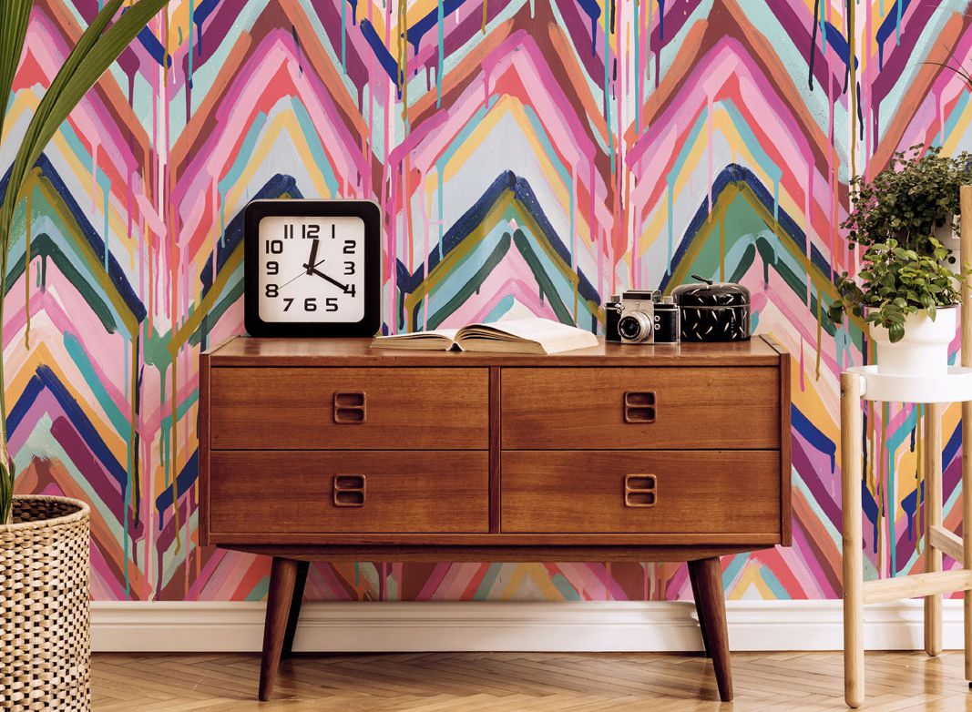 Tiff Manuell Wallpaper •Crossroads •Colorful Chevron Wallpaper • Blog