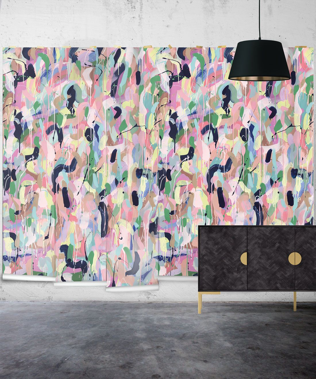 Between Tides Wallpaper •Colorful Painterly Wallpaper • Tiff Manuell • Abstract Expressionist Wallpaper • Insitu