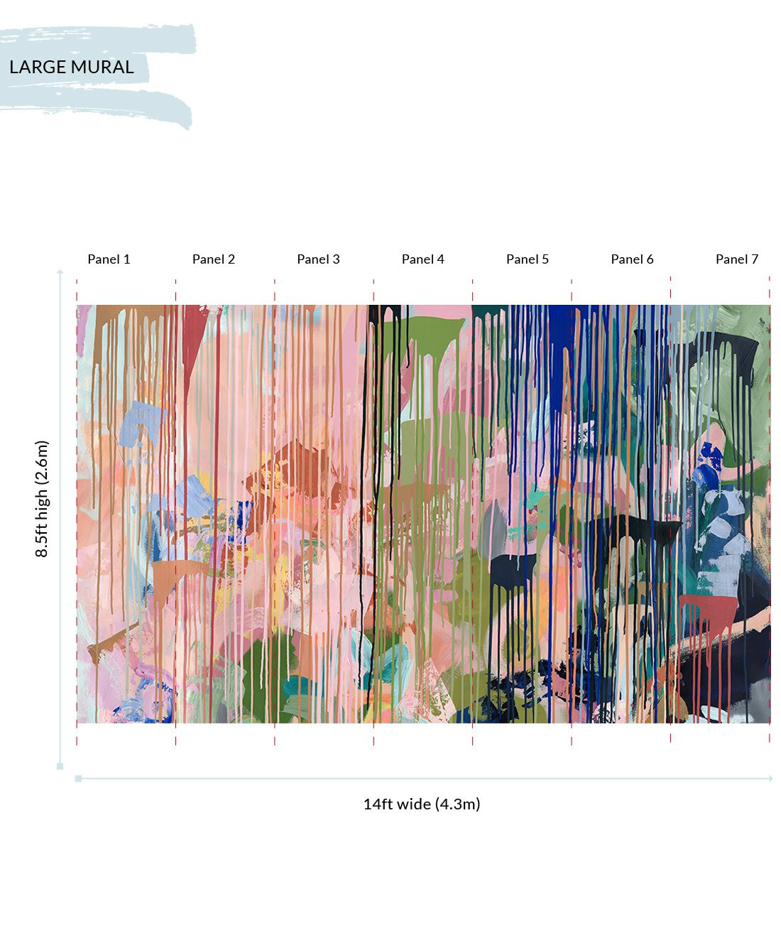 Path Less Travelled Wallpaper Mural •Colorful Painterly Wallpaper • Tiff Manuell • Abstract Expressionist Wallpaper • Large Mural