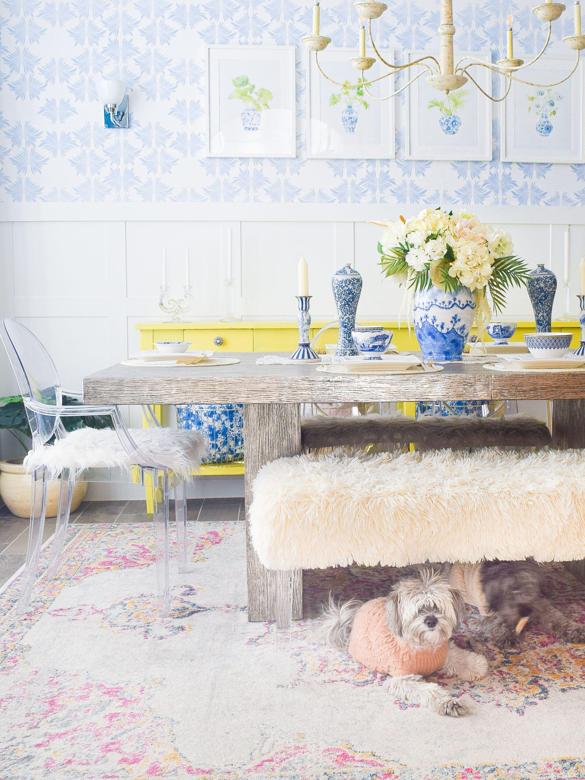 Sarah Annie Wallpaper •Dining Room Wallpaper • We Are The Joneses • Merichelle Jones