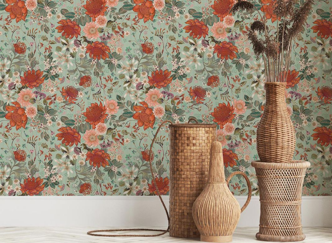 Eloise Short • Granny Chic Wallpaper • Floral Wallpaper •Bouquet Wallpaper