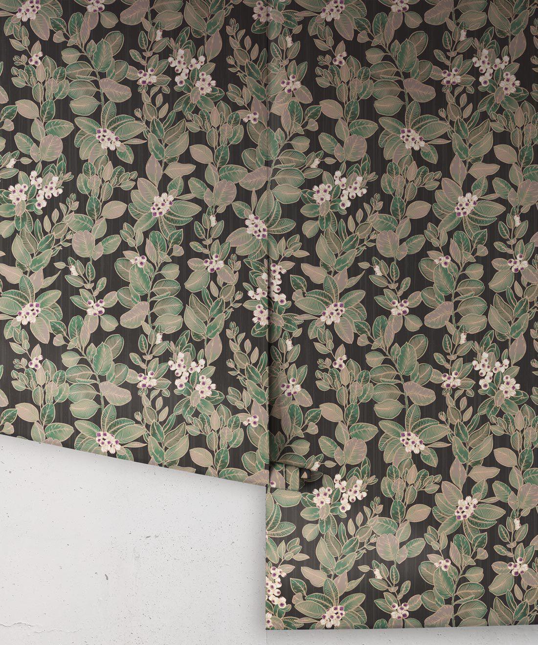 Eucalyptus Wallpaper • Eloise Short • Vintage Floral Wallpaper •Granny Chic Wallpaper • Grandmillennial Style Wallpaper •Pebble •Rolls