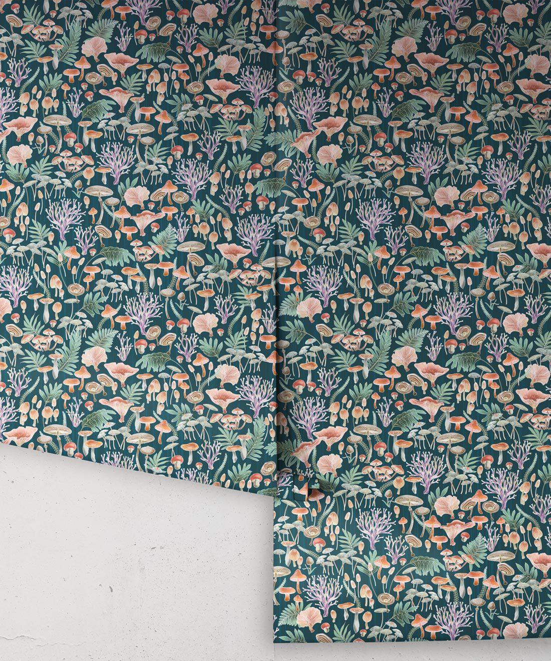 Fungi Wallpaper • Eloise Short • Vintage Floral Wallpaper •Granny Chic Wallpaper • Grandmillennial Style Wallpaper •Ocean •Rolls