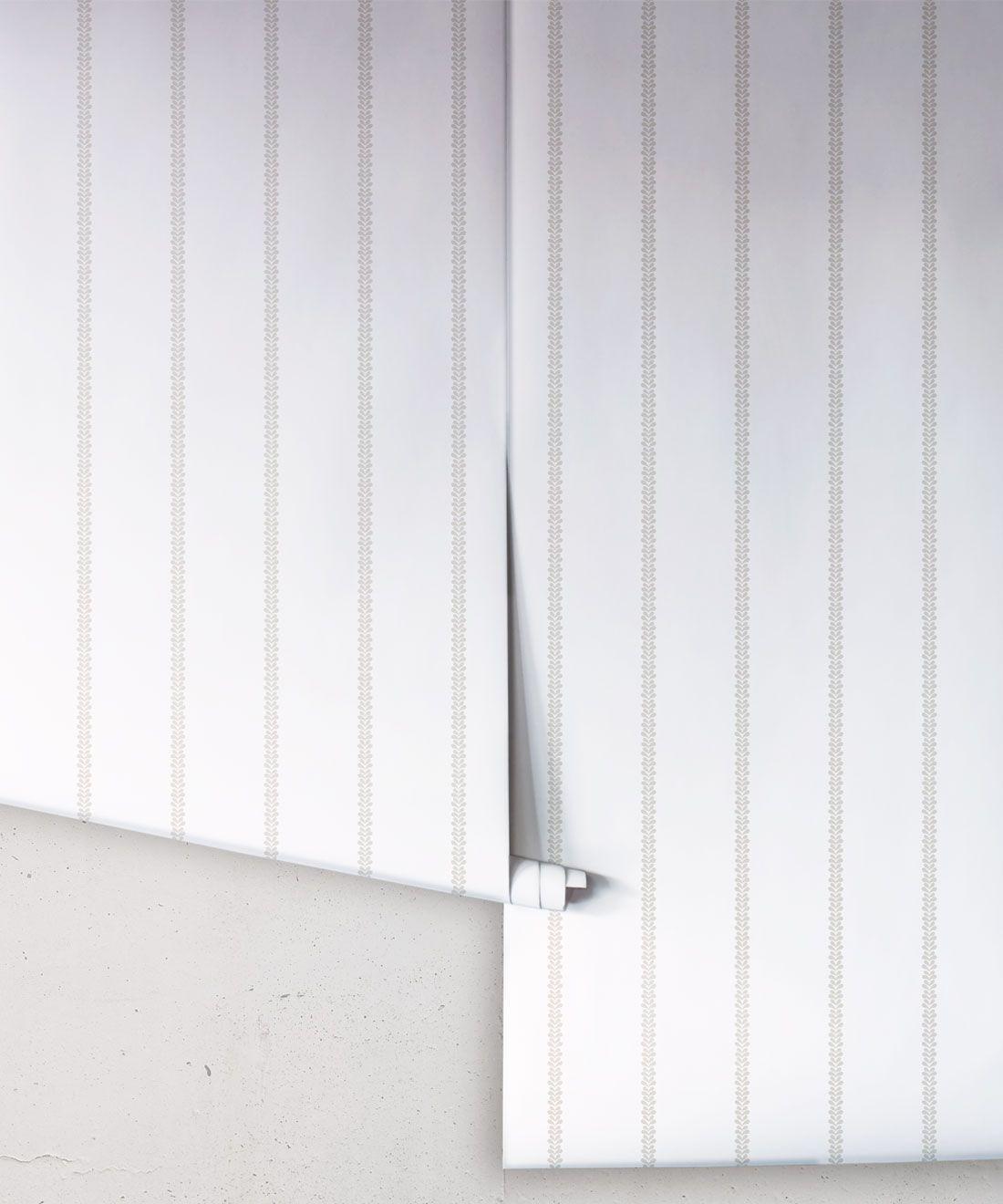 Chemin Wallpaper • Striped Wallpaper • Beige • Rolls