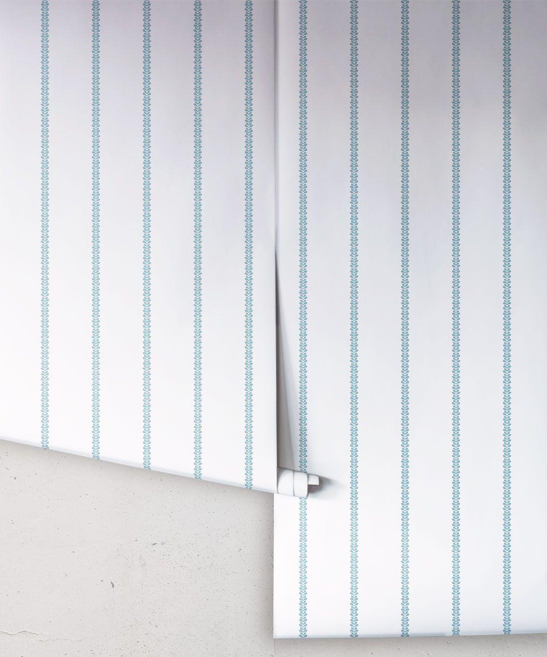 Chemin Wallpaper • Striped Wallpaper • Powder Blue • Rolls