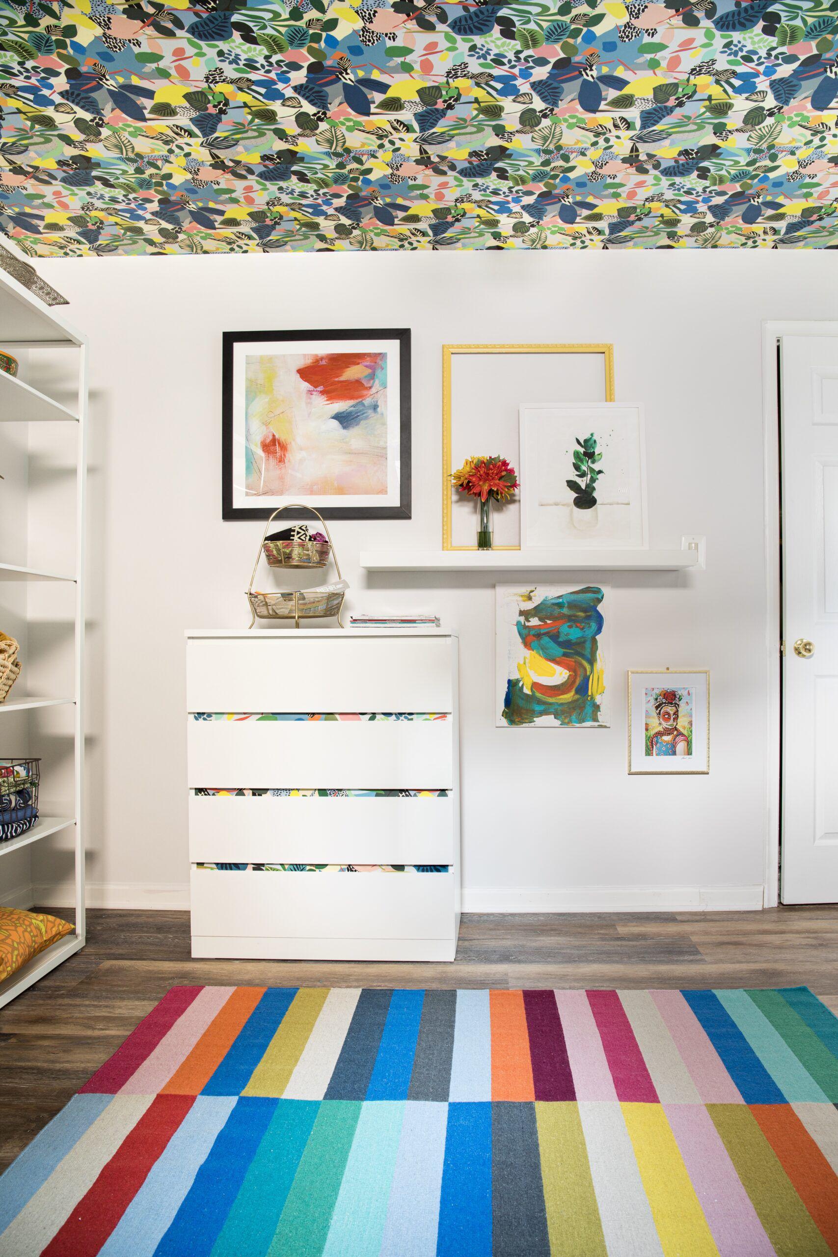 Hockney Wallpaper • Stephanie Watkins • CasaWatkinsLivingBlog •Colorful Wallpaper