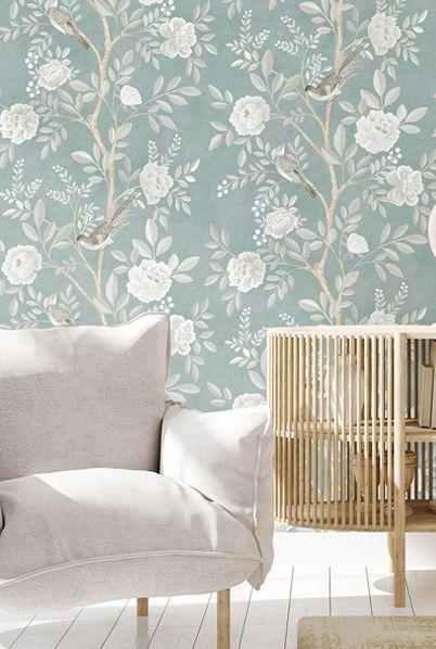 Chinoiserie Wallpaper •Milk Green