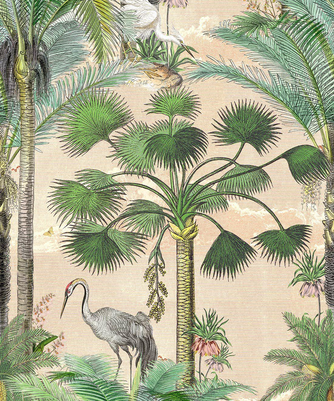 Kerala Palms Mural (2 Panel Set)