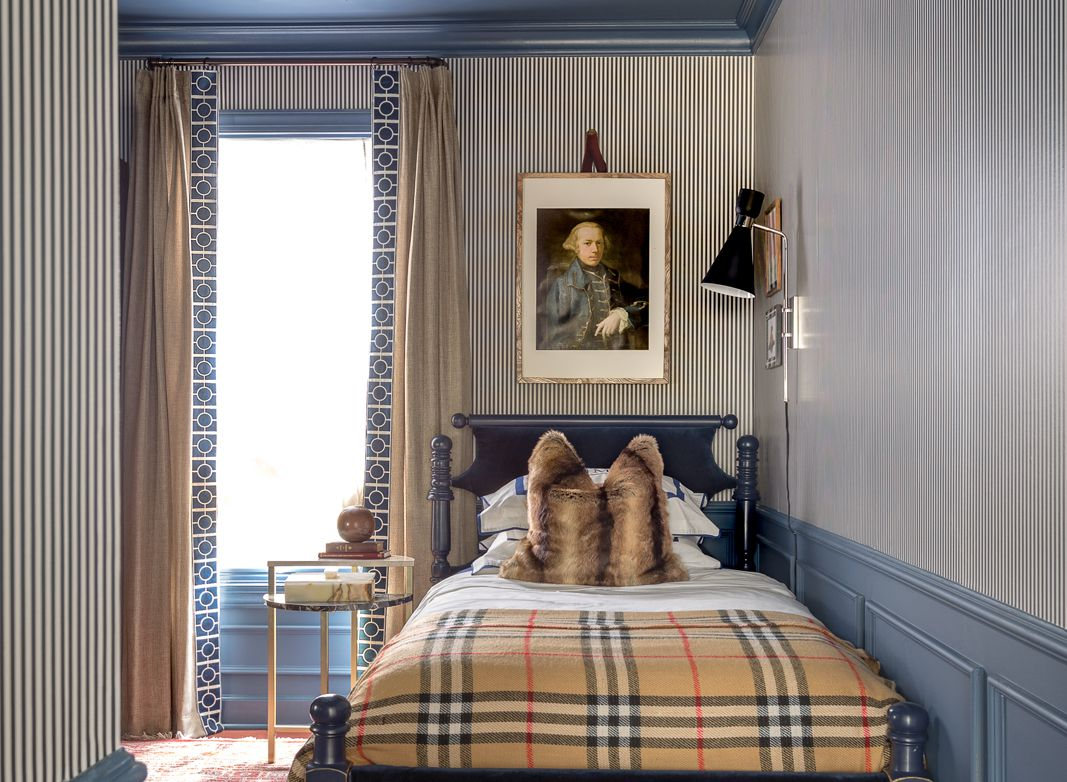 Styling Your Room With Wallpaper •Jewel Marlowe • Candy Stripe Wallpaper • Bethany Linz • Boys Room