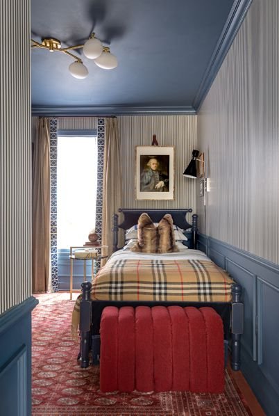 Styling Your Room With Wallpaper •Jewel Marlowe • Candy Stripe Wallpaper • Bethany Linz • Boys Room • Portrait