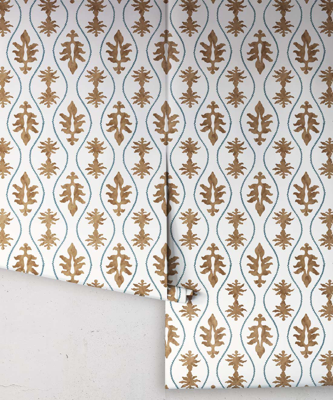 Great Jones Wallpaper • Dianne Bergeron • Chestnut •Rolls