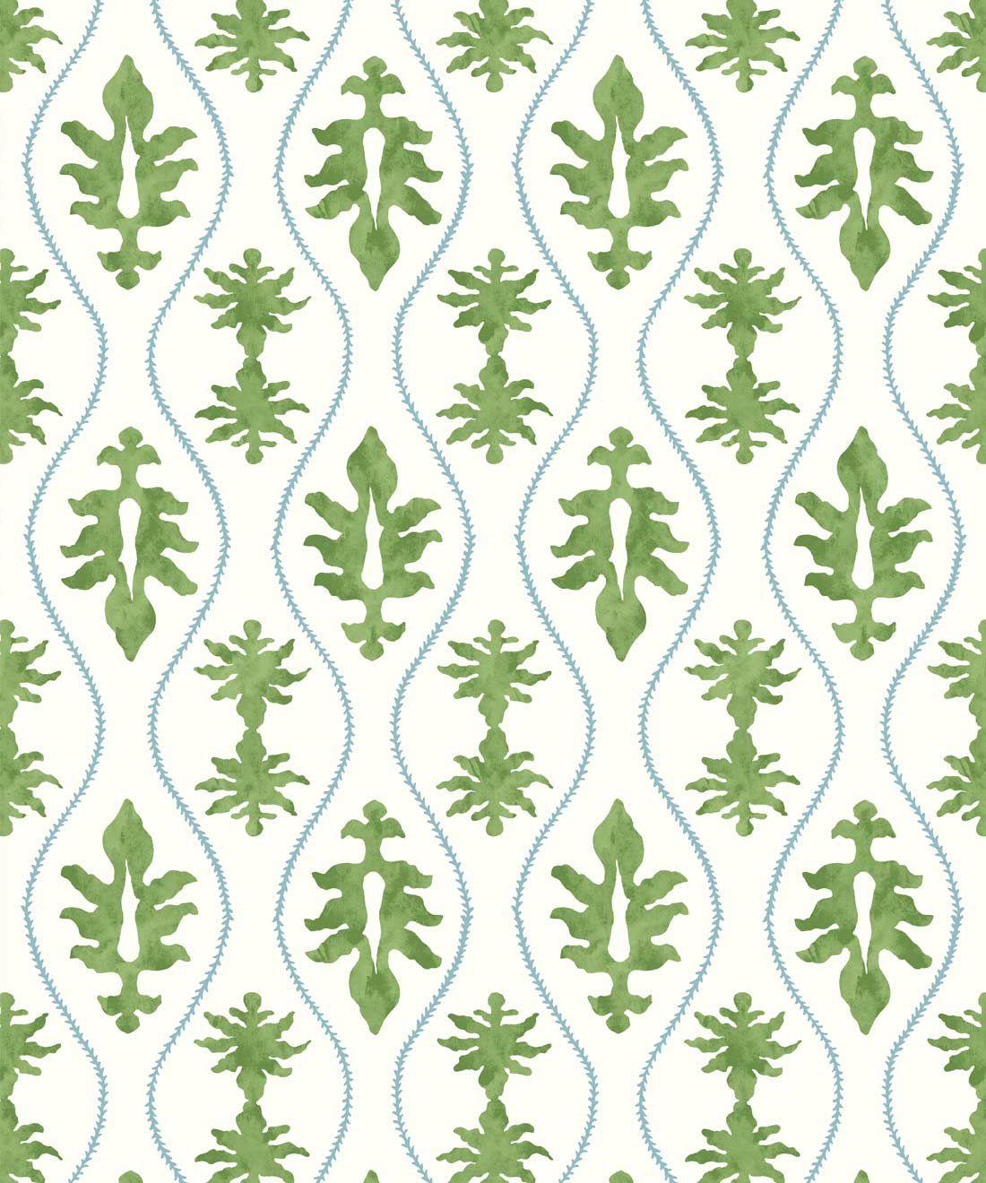 Great Jones Wallpaper • Dianne Bergeron • Moss •Swatch