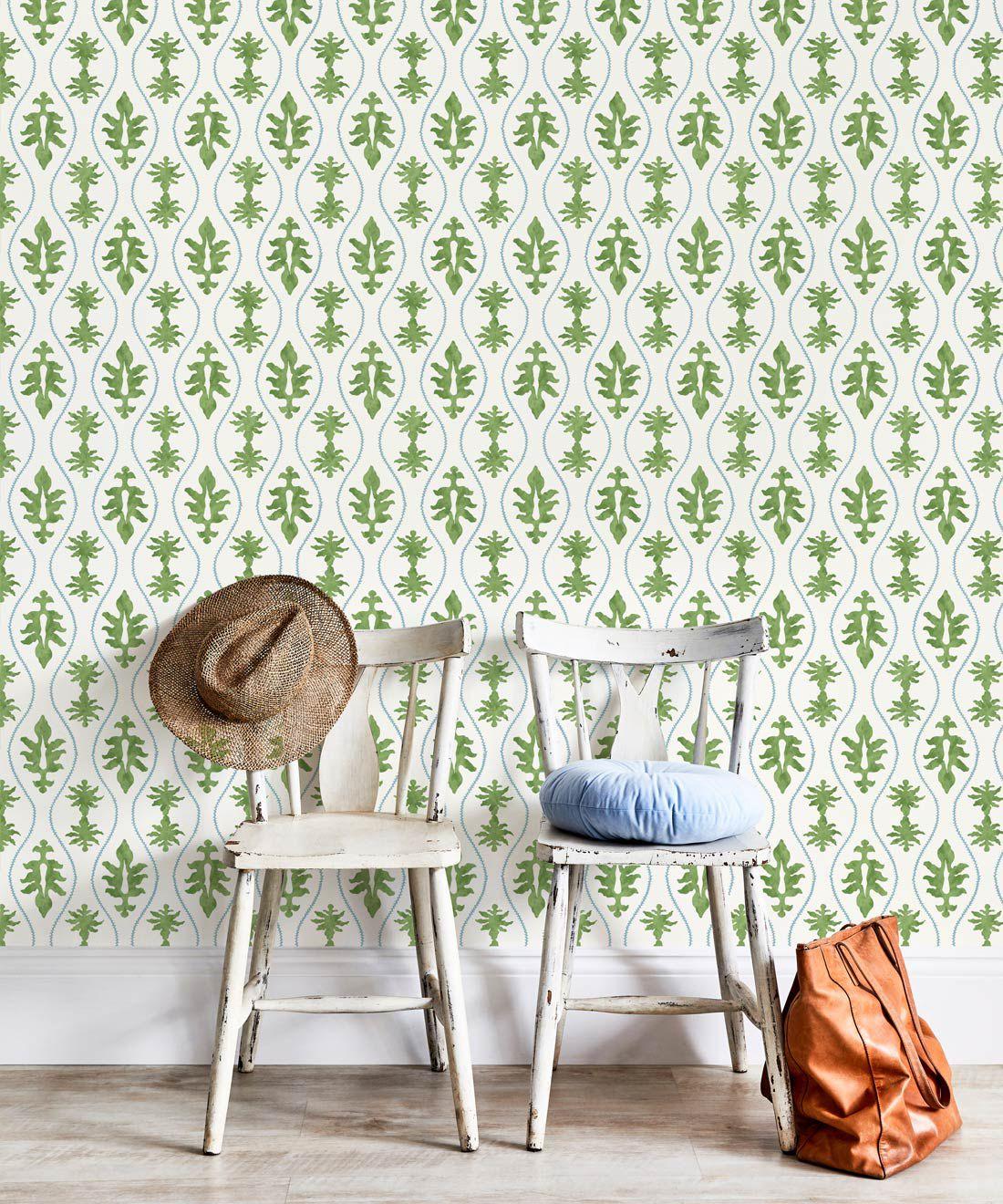 Great Jones Wallpaper • Dianne Bergeron • Moss •Insitu