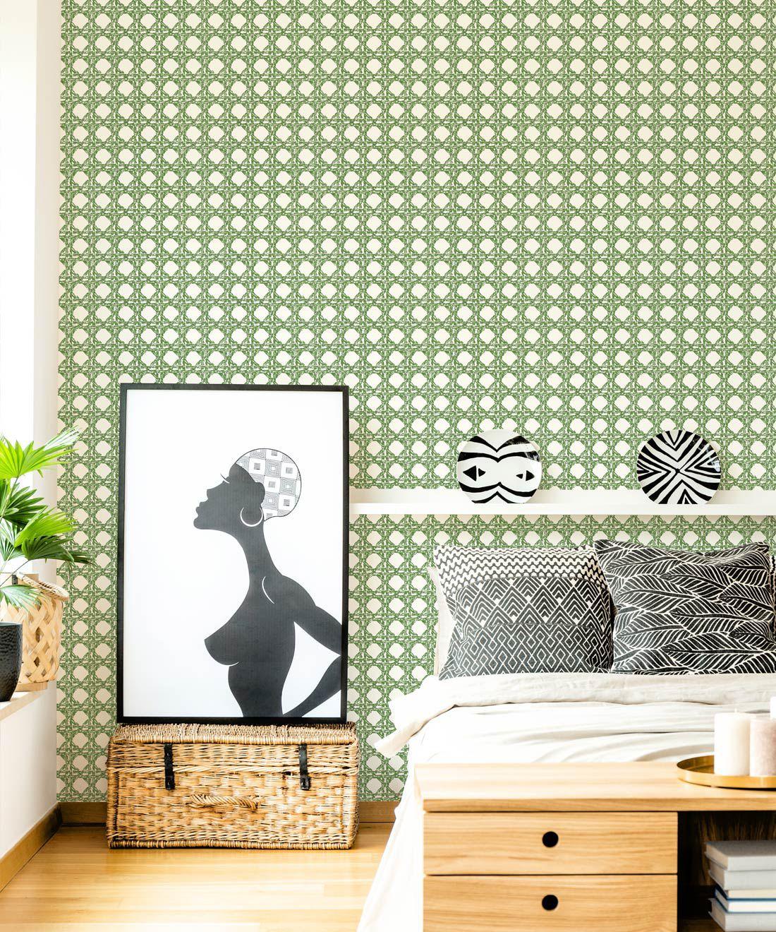 Nevis Wallpaper • Dianne Bergeron • Moss •Insitu